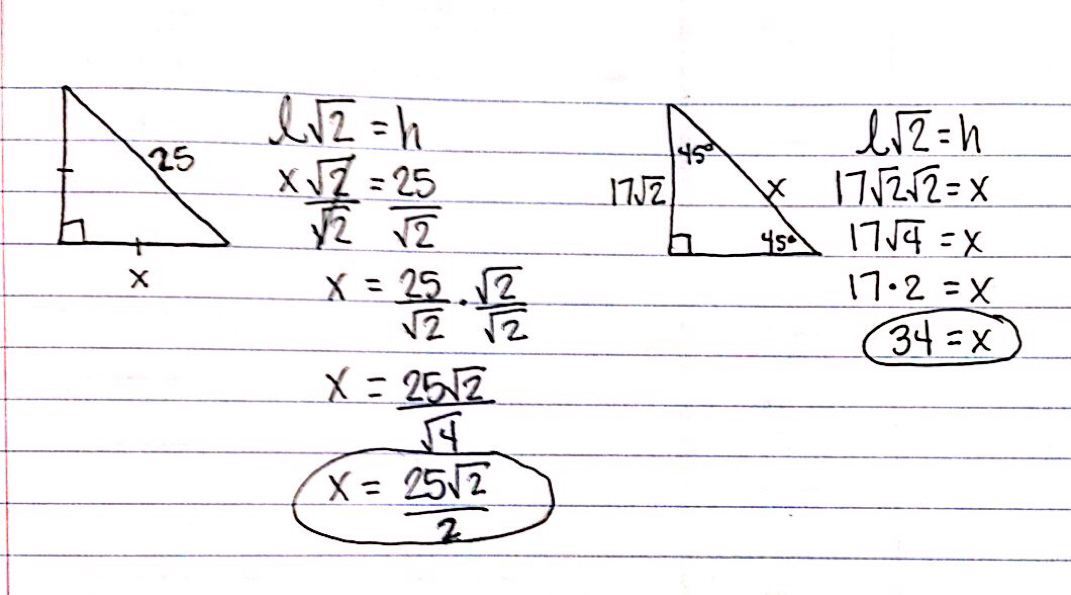 Blog Posts Ferguson Loves Math – Special Right Triangles 45 45 90 Worksheet