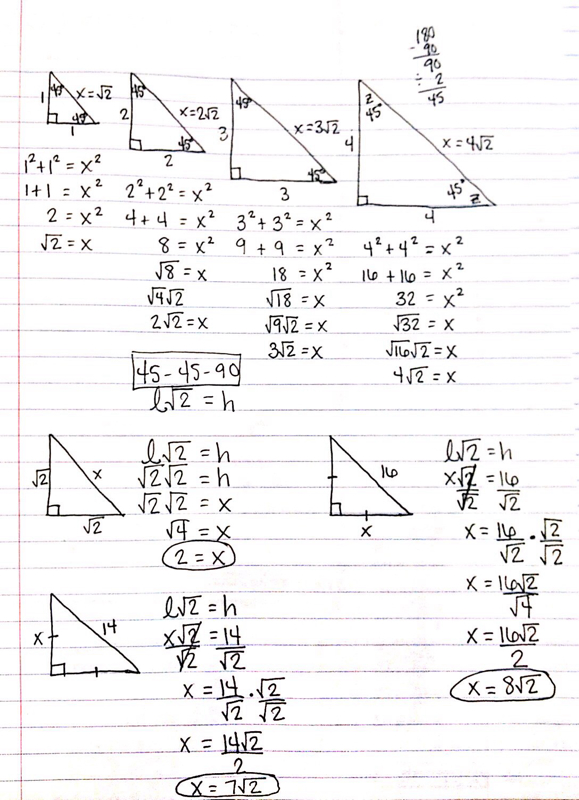 Special Right Triangles Worksheets Free Worksheets Library ...